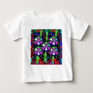 幸せな芸術のすべての行事の花の星ピンクNVN703 ベビーTシャツ