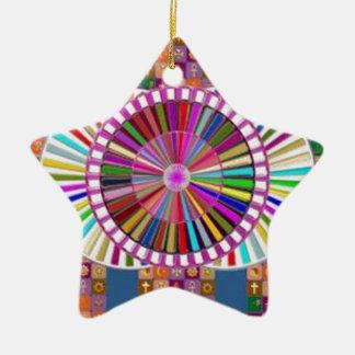 幸せな芸術:  クリスマスの休日のフェスティバル セラミックオーナメント