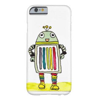 幸せな虹のロボットiPhone 6/6sの場合 Barely There iPhone 6 ケース