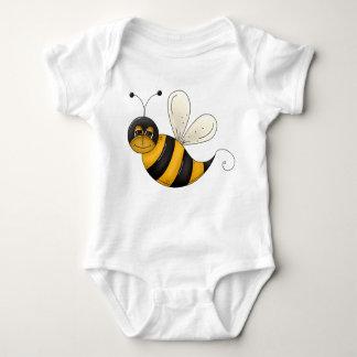 幸せな蜂の絵の黒くおよび黄色の《昆虫》マルハナバチ ベビーボディスーツ