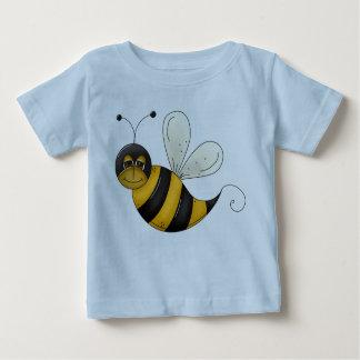 幸せな蜂の絵の黒くおよび黄色の《昆虫》マルハナバチ ベビーTシャツ