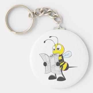 幸せな蜂の読書新聞 キーホルダー