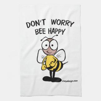 幸せな蜂を心配しないで下さい キッチンタオル