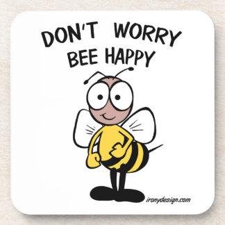幸せな蜂を心配しないで下さい コースター