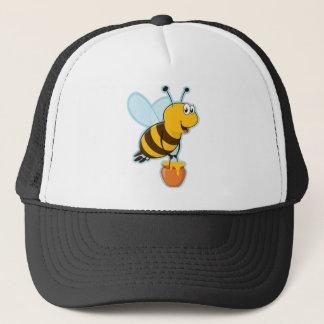 幸せな蜂蜜の蜂及び蜂蜜のポット キャップ