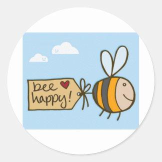 幸せな蜂 ラウンドシール