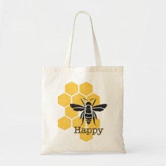 幸せな蜜蜂の巣の蜂 トートバッグ