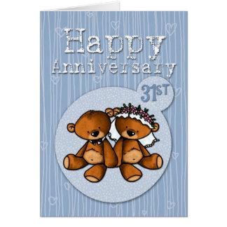 幸せな記念日くま- 31年 カード