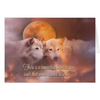 幸せな記念日の良きパートナーのオオカミカード カード