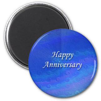 幸せな記念日ボタン マグネット