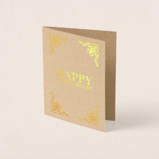 幸せな記念日 箔カード