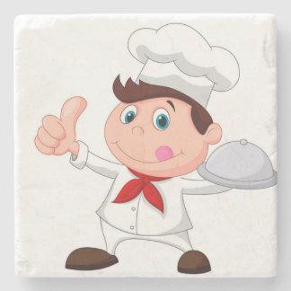 **幸せな調理師のシェフかパン屋**コースター ストーンコースター