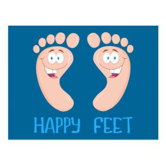 幸せな足 葉書き