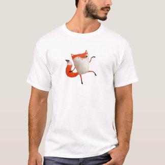 幸せな踊りのキツネ Tシャツ