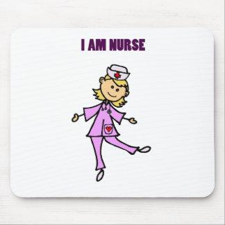 幸せな踊りのナースの芸術 マウスパッド