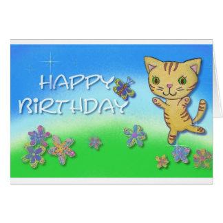 幸せな踊り猫からのハッピーバースデー カード