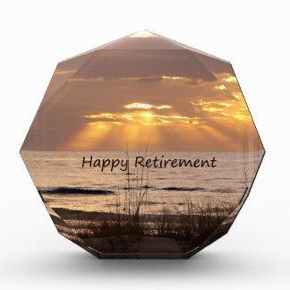 幸せな退職-フロリダの海の日没 表彰盾