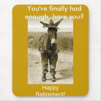 幸せな退職 マウスパッド