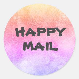 幸せな郵便封筒用シール ラウンドシール