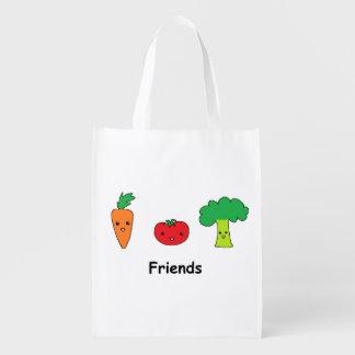 幸せな野菜友人 エコバッグ