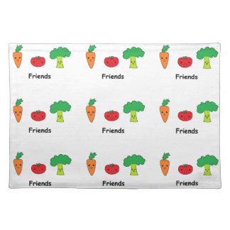 幸せな野菜友人 ランチョンマット