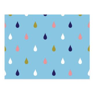 幸せな雨低下 ポストカード