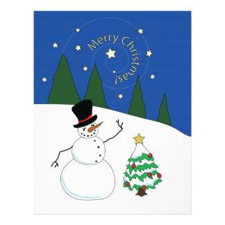 幸せな雪だるまはメリークリスマスを言います レターヘッド