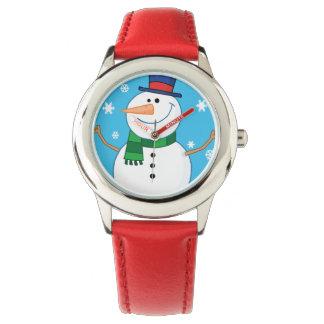 幸せな雪だるま 腕時計
