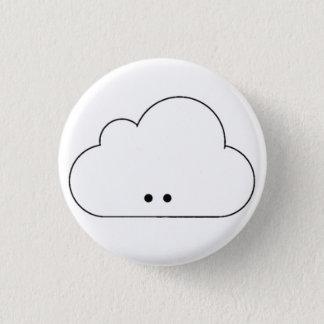 幸せな雲 3.2CM 丸型バッジ