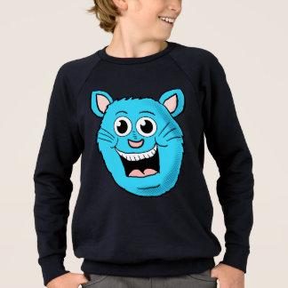 幸せな青猫の顔はワイシャツをからかいます スウェットシャツ