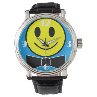幸せな顔のちょうネクタイの腕時計 腕時計
