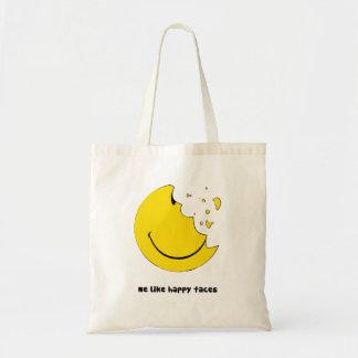 幸せな顔のバッグのように私 トートバッグ