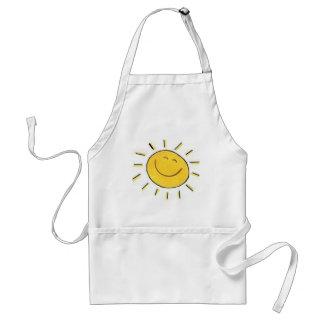 幸せな顔の太陽のエプロン スタンダードエプロン