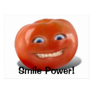 幸せな顔の微笑のトマト ポストカード