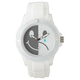 幸せな顔の悲しい顔の腕時計 腕時計