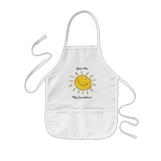 幸せな顔の日光-エプロン 子供用エプロン