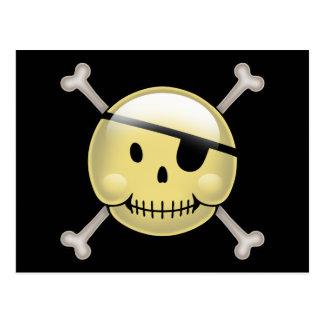 幸せな顔の海賊 ポストカード