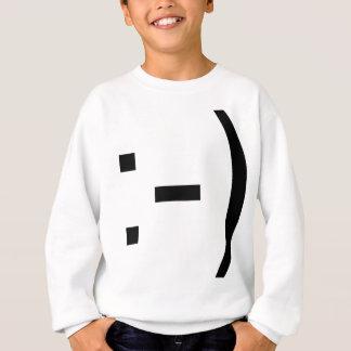 幸せな顔の顔文字! スウェットシャツ