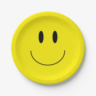 """""""幸せな顔""""の紙皿 ペーパープレート"""