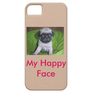 幸せな顔-パグ iPhone SE/5/5s ケース