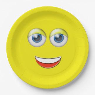 幸せな顔Emoji ペーパープレート
