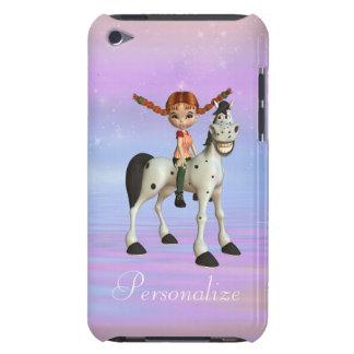 幸せな馬の名前入りなiPodの箱のかわいい女の子 Case-Mate iPod Touch ケース