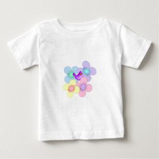 幸せな鳥のベビーT ベビーTシャツ