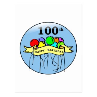 幸せな100th誕生日のブランデーグラス ポストカード