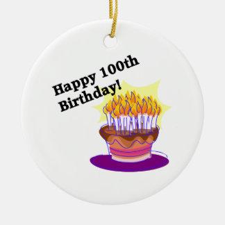 幸せな100th誕生日 セラミックオーナメント