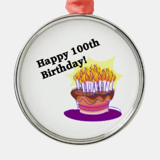 幸せな100th誕生日 メタルオーナメント