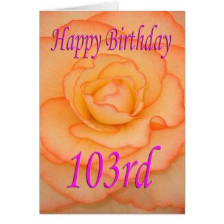 幸せな103rd誕生日の花 カード
