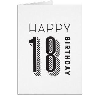 幸せな18誕生日 カード