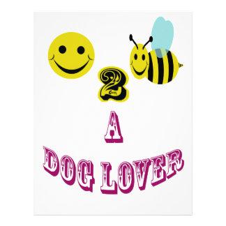 幸せな2蜂犬の恋人 レターヘッド
