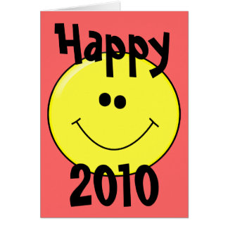 幸せな2010年-カードの微笑のスマイリー カード
